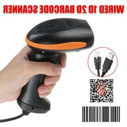 1D/2D Handheld Wired Laser Barcode Scanner Scan Gun Reader B