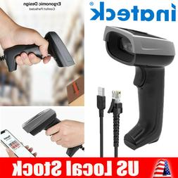 Inateck 1D Screen Barcode Scanner, USB Wired CCD Barcode Rea