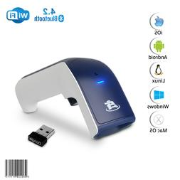 1D Wireless Bluetooth Barcode Scanner: 3-in-1 Handheld, USB