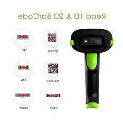 2.4G Wireless Bluetooth 2D Barcode Scanner Reader Compatible