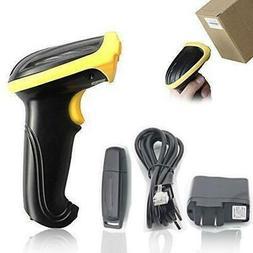 2.4G Wireless Laser Barcode Scanner Scan Gun Label Reader US