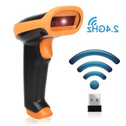 2.4G Wireless Portable Barcode Scanner Handheld Cordless USB