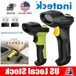 Inateck 2.4GHz Automatic Wireless USB Barcode Scanner Scan G