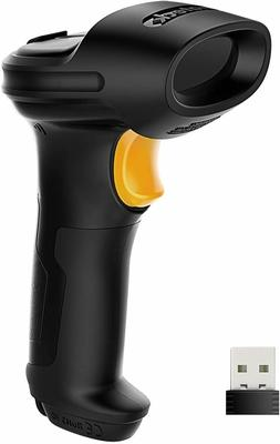 Inateck 2.4GHz Wireless Barcode Scanner 2600mAh Battery 35m