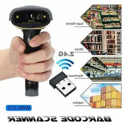 2.4GHz Wireless Bluetooth Barcode Scanner USB Automatic Lase