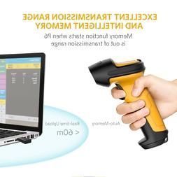 Inateck 2.4GHz Wireless Laser Barcode Scanner 2600mAh Batter