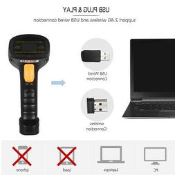 Aibecy 2-in-1 2.4G Wireless Barcode Scanner & USB Wired Barc
