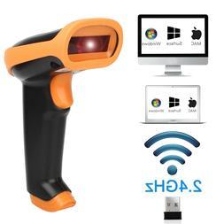 2 in 1 2.4G Wireless Wired Barcode Scanner Handheld Scanning
