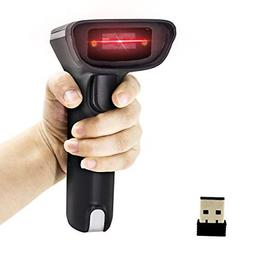 Alacrity 2-in-1 Wireless & USB 2D Barcode Scanner,Handheld Q