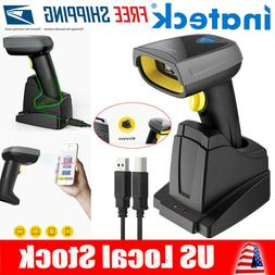 Inateck 2D Barcode Scanner Wireless, Bluetooth, QR Code Scan