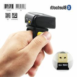2D Ring Barcode Scanner,Symcode Mini Wireless Finger Barcode