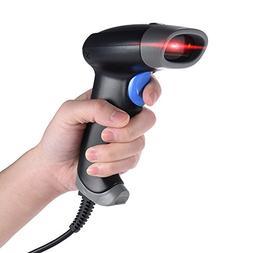 Aibecy 2D QR 1D USB Barcode Scanner CCD Red Light PDF417 Scr