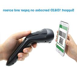 TEEMI 2D Wireless Barcode Scanner 3 in one Connection Suppor