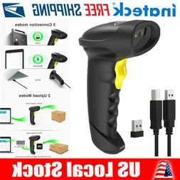 Inateck 2D Wireless Barcode Scanner, Read Barcodes on Displa