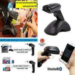 2D Wireless Barcode Scanner W USB Cradle For Ipad Iphone And