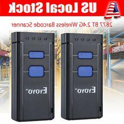 2pcs MJ-2877 Portable Wireless Bluetooth Barcode Laser Scann