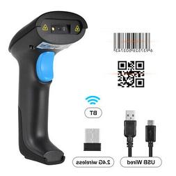 Aibecy 3in1 Barcode Scanner BT & 2.4G Wireless &Wired 1D 2D