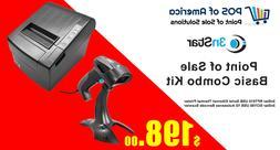 3nStar Combo Kit Printer 1D Barcode Scanner ALDELO PCAMERICA
