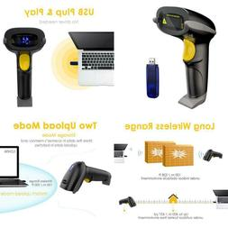 Nadamoo 433Mhz Wireless Barcode Scanner 328 Feet Transmissio