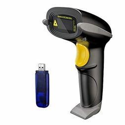 NADAMOO Wireless Barcode Scanner 328 Feet Transmission Dista