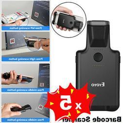5X Bluetooth Barcode Scanner Portable Clip Wireless 1D 2D QR