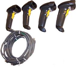 Lot 4 Symbol LS2208 BarCode Scanner Kit With USB Cable