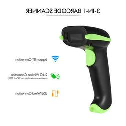 Aibecy Barcode Scanner 3 in 1 Handheld 2D 1D Bar Code Scanne