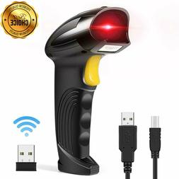2.4G Wireless Barcode Scanner Handheld Laser 1D USB Reader W