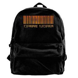 LONGAOYIJIA Barcode Canvas Shoulder Backpack Cute Running Ba