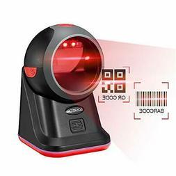 LOSRECAL Barcode Scanner 1D QR 2D Hands-Free Omnidirectional