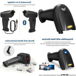 Barcode Scanner 2-In-1 Bluetooth Barcode Scanner Wireless An