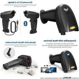 Barcode Scanner 2-In-1 Bluetooth Barcode Scanner Wireless An
