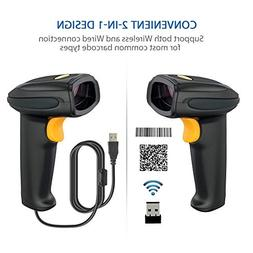 2.4GHz Wireless Barcode Scanner with USB Receiver, Hand Held