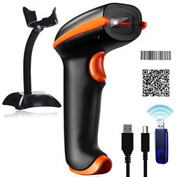 Tera Barcode Scanner Wireless 1D 2D 2-in-1  2D QR Bar Code S