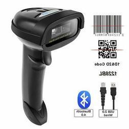 NETUM Bluetooth 2D Barcode Scanner USB 2.0 Wired 1D QR PDF41