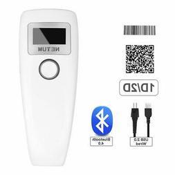 NETUM Bluetooth Barcode Scanner 1D 2D QR Bar Code Reader Com