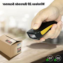 Bluetooth Wireless 2D Barcode Scanner Pocket QR Bar Code Rea