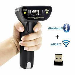 Bluetooth Wireless Barcode Scanner and USB Wired 1D Laser Di