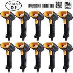 Case of 10 Pack, Bluehresy 2D 1D Handheld Barcode Scanner US