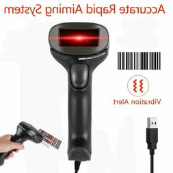 F5 Wired USB Barcode Scanner - Wired Handheld Automatic 1D L