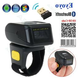 Eyoyo Handheld 1D 2D QR Barcode Scanner Reader Wearable Ring