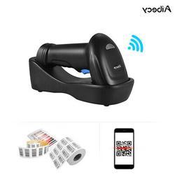 Aibecy Handheld 433MHz Wireless 1D 2D QR Barcode Scanner Bar