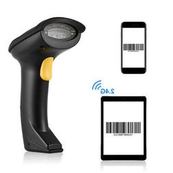 Bluetooth 4.0 Handheld 2.4G Wireless 1D Barcode Scanner CCD