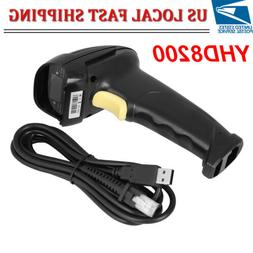 Handheld USB Laser Barcode Scanner Bar Code Reade With Stand