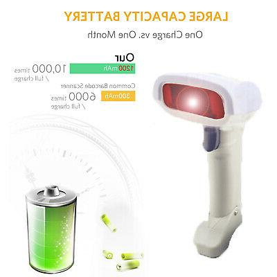 2.4GHz USB Barcode Reader Visible Handheld Lase Cordless