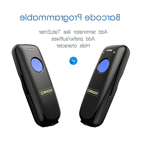 NADAMOO Mini Scanner, Bluetooth & Connection, Connect Smart Tablet, CCD Work With iOS