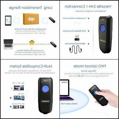 1 bluetooth wired barcode scanner