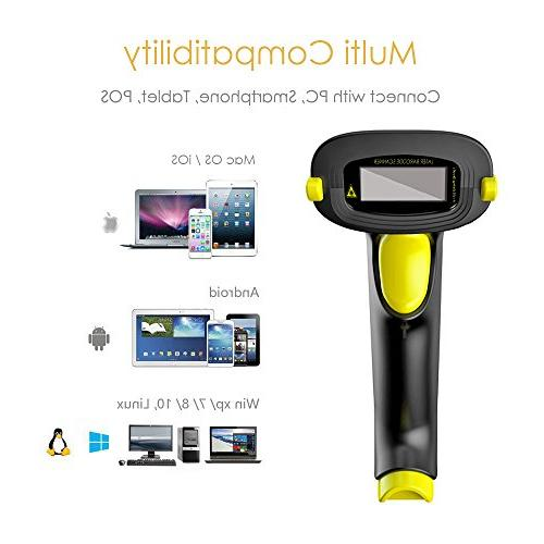 NADAMOO Barcode Scanner Compatible with Bluetooth & 2 4GHz