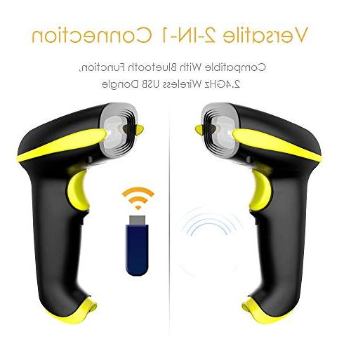 NADAMOO Barcode with Wireless Connect Phone, Tablet, Workwith Linux,