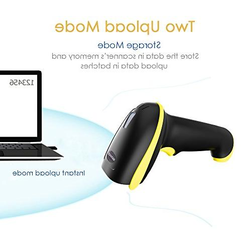 NADAMOO Barcode Scanner with Bluetooth & Wireless Connection Connect Mobile Phone, Workwith Linux, Android, iOS